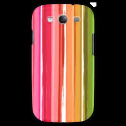 """Чехол для Samsung Galaxy S3 """"Радуга"""" - узор, радуга, рисунок, полосатый, красочный"""
