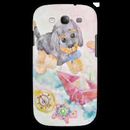 """Чехол для Samsung Galaxy S3 """"Плюшевая истрия"""" - добрый, игрушки, оригинальный, акварель, нежный"""
