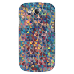 """Чехол для Samsung Galaxy S3 """"Разноцветные треугольники """" - мозаика, 3d, color, mosaic"""