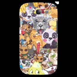"""Чехол для Samsung Galaxy S3 """"стикерs"""" - авторское, вк, стикеры"""