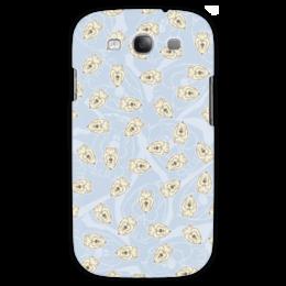 "Чехол для Samsung Galaxy S3 ""Собачки"" - dog, голубой, рисунок, собака, собачка"