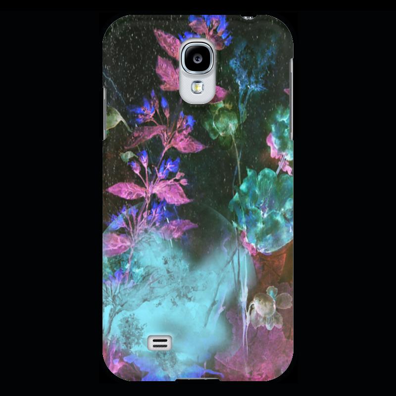Чехол для Samsung Galaxy S4 Printio Светящиеся цветы. ночь рижский рынок купить цветы ночью