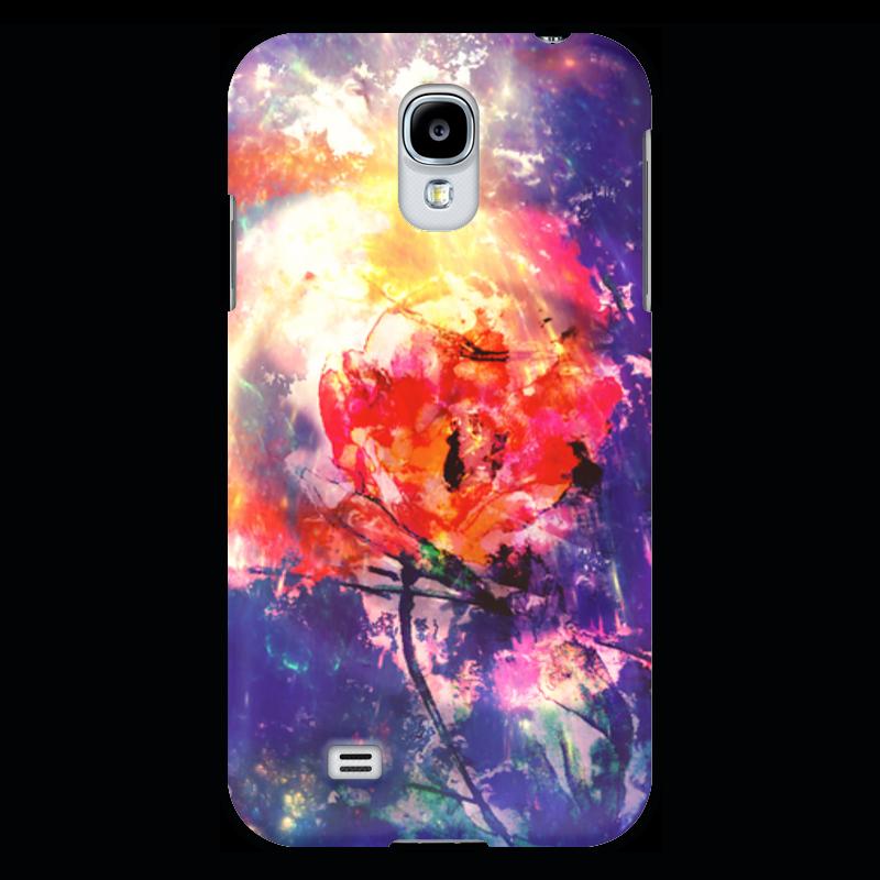 Чехол для Samsung Galaxy S4 Printio Космический тюльпан