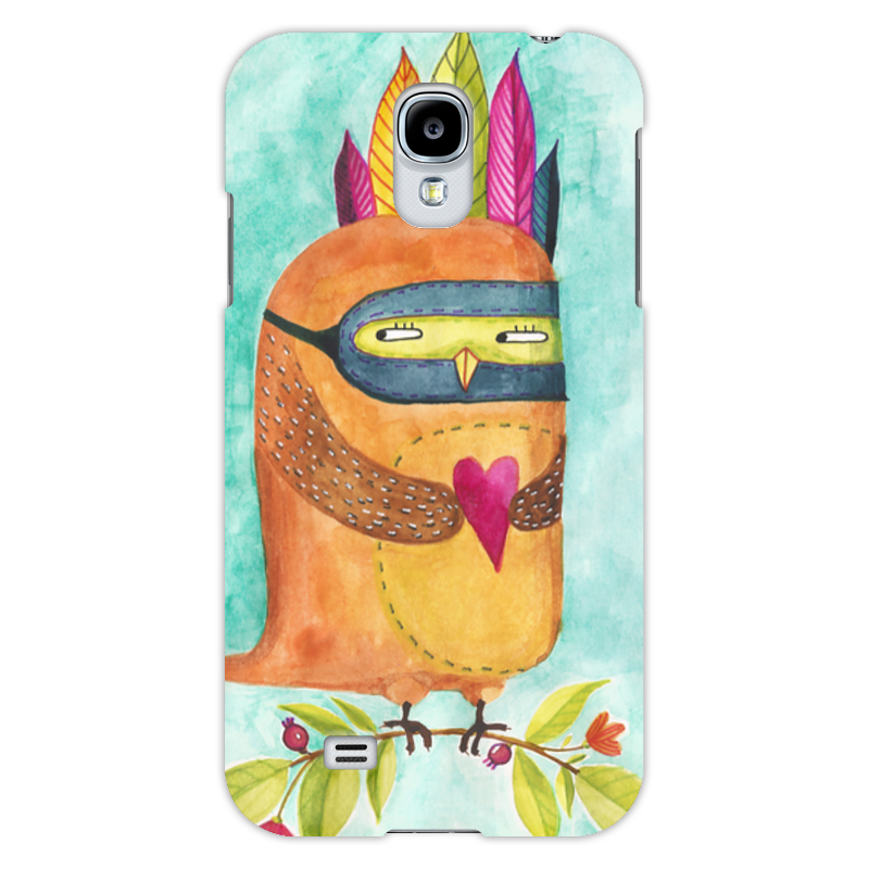 Чехол для Samsung Galaxy S4 Printio Рыжая сова индеец