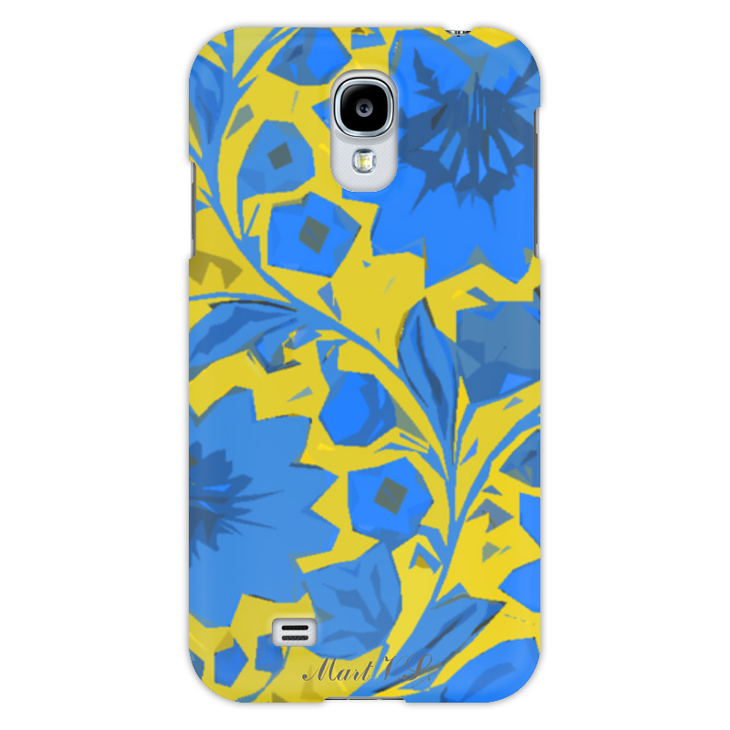 Чехол для Samsung Galaxy S4 Printio blue_yellow_pattern samsung galaxy s4 в москве цена