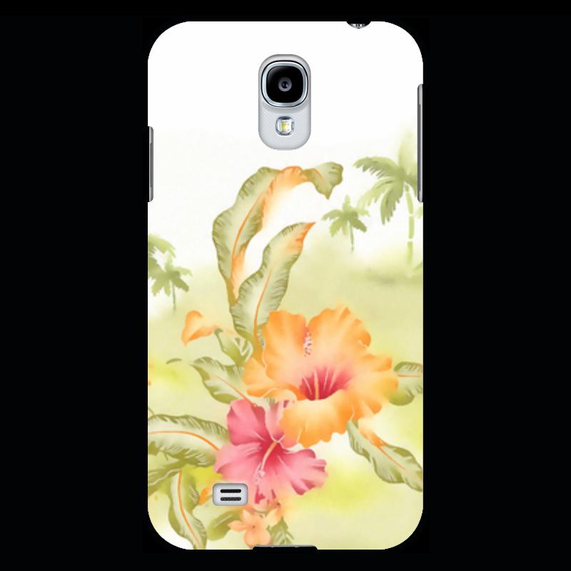 Чехол для Samsung Galaxy S4 Printio Тропические цветы, пальмы. купить горшок для пальмы большой