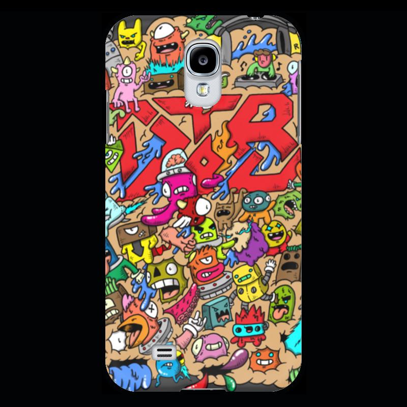 Чехол для Samsung Galaxy S4 Printio Doodle: drop the bass line splat the cat doodle and draw