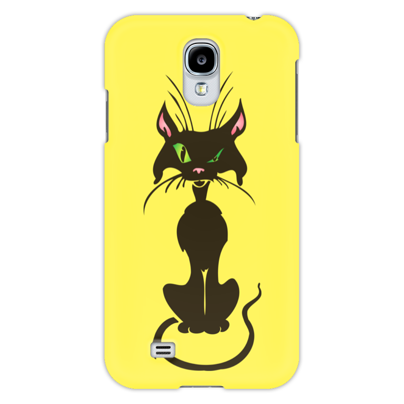 Чехол для Samsung Galaxy S4 Printio Черный кот бинокль с одним глазом как называется