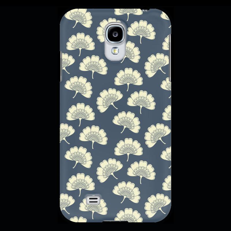 Чехол для Samsung Galaxy S4 Printio Цветочный чехол для карточек пионы на синем фоне дк2017 113