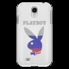 """Чехол для Samsung Galaxy S4 """"Playboy Россия"""" - плейбой, плэйбой, playboy, россия, зайчик"""