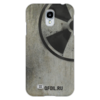 """Чехол для Samsung Galaxy S4 """"Логотип-трафарет"""" - сталкер, тёмная душа"""