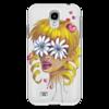 """Чехол для Samsung Galaxy S4 """"Без ума от цветов"""" - любовь, девушка, цветы, сердца, блондинка"""