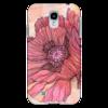 """Чехол для Samsung Galaxy S4 """"Графика - мак"""" - арт, лето, цветы, flower, весна, графика, винтаж, poppy, авторский дизайн"""