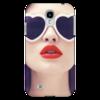 """Чехол для Samsung Galaxy S4 """"Красные губы"""" - девушка, стиль, red, girl, лицо, очки, губы, красота, мода, гламур"""