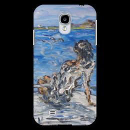 """Чехол для Samsung Galaxy S4 """"Мечта"""" - девушка, красота, дельфины, чайки, на море"""