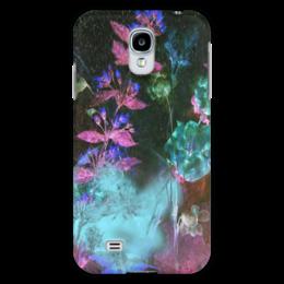 """Чехол для Samsung Galaxy S4 """"Светящиеся цветы. Ночь"""" - цветок, оригинальный, акварель, нежный, фаньазия"""