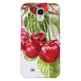 """Чехол для Samsung Galaxy S4 """"Красная черешня """" - рисунок, вишня, черешня, красная черешня"""