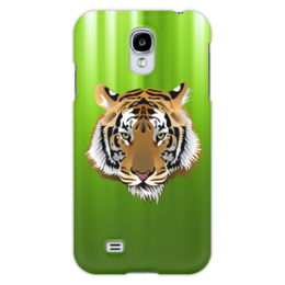 "Чехол для Samsung Galaxy S4 ""Взгляд тигра"" - рисунок, взгляд, тигр, джунгли"