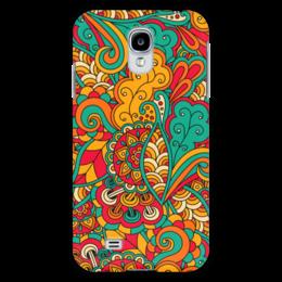 """Чехол для Samsung Galaxy S4 """"Растительный дудл узор"""" - арт, узор, орнамент, абстракция, дудл"""