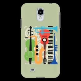 """Чехол для Samsung Galaxy S4 """"Музыкальные инструменты"""" - музыка, гитара, скрипка, инструменты, саксафон"""