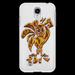 """Чехол для Samsung Galaxy S4 """"New 2017 Gold Fire"""" - новый год, петух, 2017, символ 2017, огненный петух"""