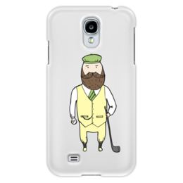 "Чехол для Samsung Galaxy S4 ""Джентльмен с клюшкой для гольфа"" - мяч, борода, джентльмен, гольф, клюшка"