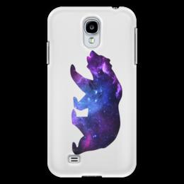 "Чехол для Samsung Galaxy S4 ""Space animals"" - space, bear, медведь, космос, астрономия"