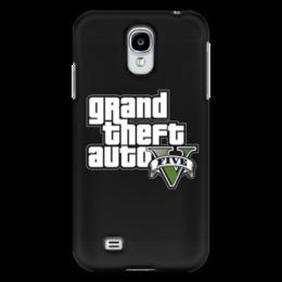 """Чехол для Samsung Galaxy S4 """"GTA 5"""" - гта, gta 5, игрок, для геймера, про игры"""