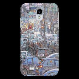"""Чехол для Samsung Galaxy S4 """"Охотный ряд"""" - арт, москва, город, пейзаж, живопись"""