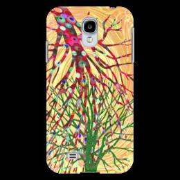 """Чехол для Samsung Galaxy S4 """"Перекати-поле"""" - растение, желтый, зеленый, розовый, перекати-поле"""