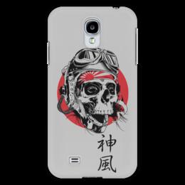 """Чехол для Samsung Galaxy S4 """"Камикадзе"""" - япония, иероглифы, камикадзе, божественный ветер"""