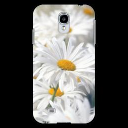 """Чехол для Samsung Galaxy S4 """"Ромашки"""" - цветы, цветок, белый, ромашка, желтый"""