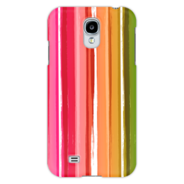 """Чехол для Samsung Galaxy S4 """"Радуга"""" - узор, радуга, рисунок, полосатый, красочный"""