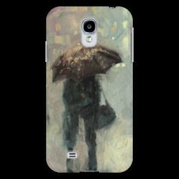 """Чехол для Samsung Galaxy S4 """"Проводи меня до дома"""" - любовь, арт, день святого валентина, дождь, rain, saint valentine's day"""