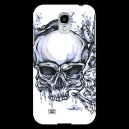 """Чехол для Samsung Galaxy S4 """"череп художник"""" - череп, арт, стиль, рисунок, художник"""