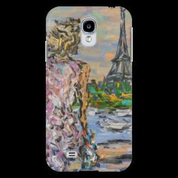 "Чехол для Samsung Galaxy S4 ""Парижанка"" - девушка, красота, париж, эйфелева башня, сена"