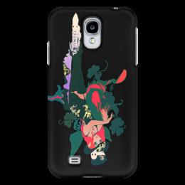 """Чехол для Samsung Galaxy S4 """"Ядовитый плющ"""" - череп, девушка, эльф, королева марго, трелистник"""
