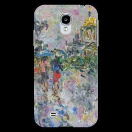 "Чехол для Samsung Galaxy S4 ""Питер"" - питер, девушке, дождь, зонт, двое"
