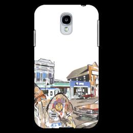 """Чехол для Samsung Galaxy S4 """"Индейцы. Путешествие по США"""" - авто, сша, автомобили, путешествия, машины, индейцы"""
