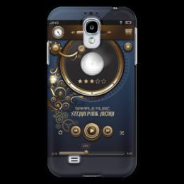 """Чехол для Samsung Galaxy S4 """"Стимпанк-музыка"""" - музыка, плеер, стимпанк, пластинка, кнопки"""