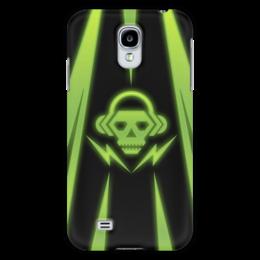 """Чехол для Samsung Galaxy S4 """"Skull"""" - skull, music, dubstep"""