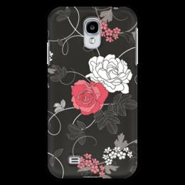 """Чехол для Samsung Galaxy S4 """"Красная и белая розы"""" - цветы, белое, красное, розы"""