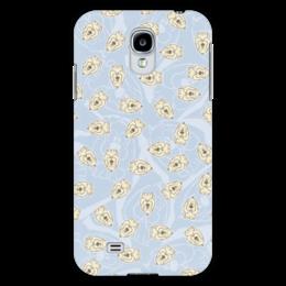 "Чехол для Samsung Galaxy S4 ""Собачки"" - dog, голубой, рисунок, собака, собачка"