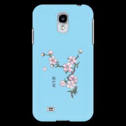 """Чехол для Samsung Galaxy S4 """"Японская сакура"""" - цветы, вишня, япония, иероглифы, сакура"""