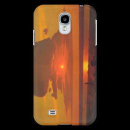 "Чехол для Samsung Galaxy S4 ""Красный закат (картина Архипа Куинджи)"" - картина, архип куинджи"