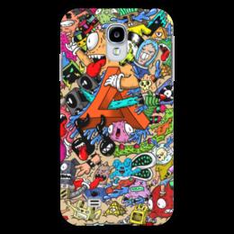 """Чехол для Samsung Galaxy S4 """"Doodle: MA Dubstep"""" - монстры, doodle, каракули"""