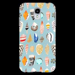 "Чехол для Samsung Galaxy S4 ""Морские"" - арт, пляж, ракушки, фон, море"