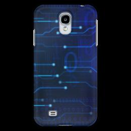 "Чехол для Samsung Galaxy S4 ""Матрица"" - компьютер, матрица, чип, микросхема, цифровой"