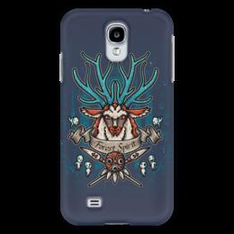 """Чехол для Samsung Galaxy S4 """"Forest Spirit. Лесной Дух"""" - рисунок, олень, фэнтэзи, лесной дух"""