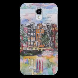 "Чехол для Samsung Galaxy S4 ""Амстердам"" - арт, colors, город, в подарок, amsterdam, city, архитектура, амстердам, holland, canal"